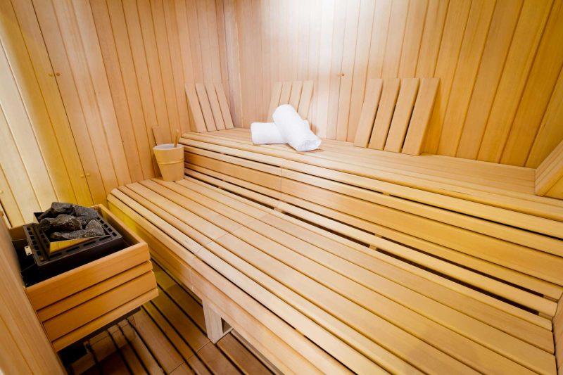 Intérieur du spa à la villa K de Saint-Louis