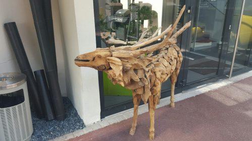 Cerf bois flotté
