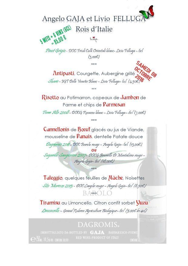 menu gaja