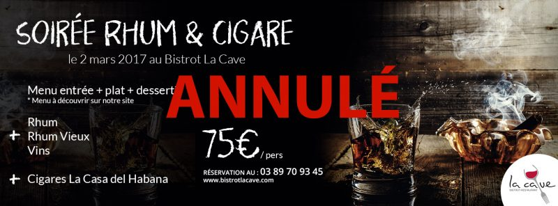 menu rhum cigare bale
