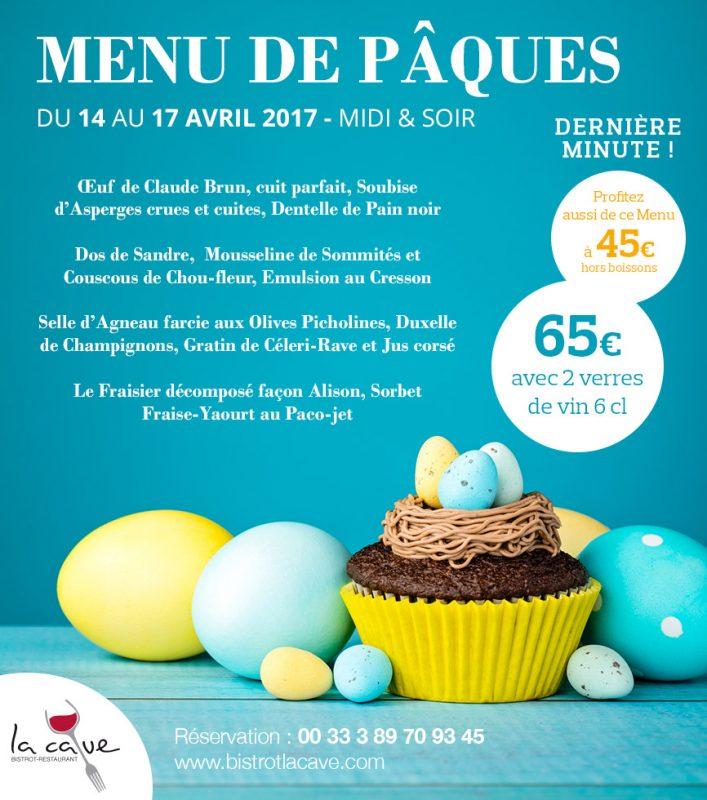 menu paques restaurant alsace