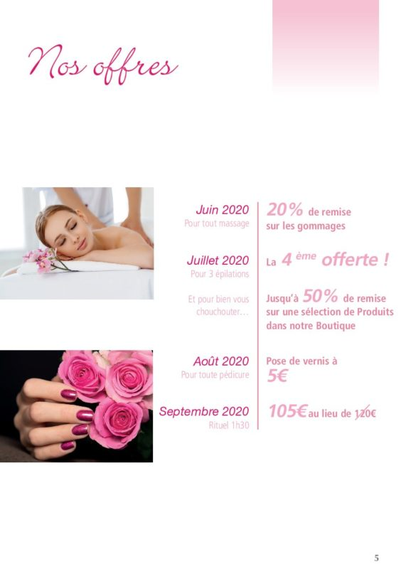 reductions spa esthetique