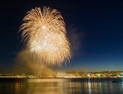 Feu d'artifice pour le Nouvel An de Bâle
